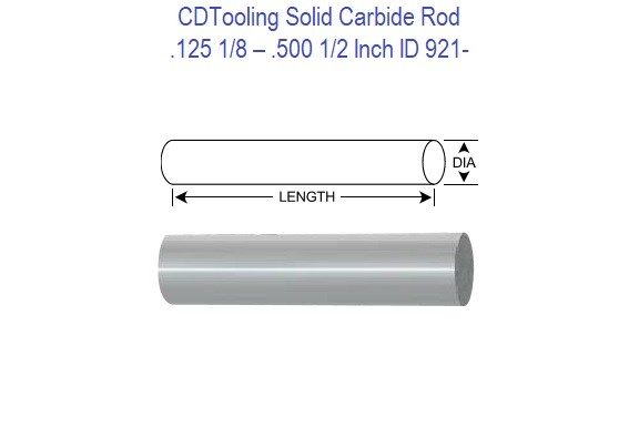 Carbide Rounds - .125 1/8 - .500 1/2  ID 921-