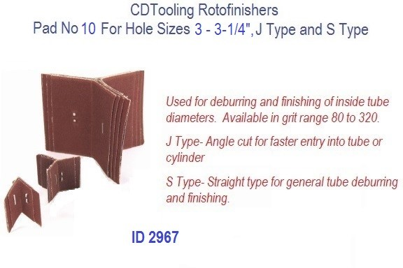 Rotofinishers Pad No 10 For Hole Sizes 3 - 3-1/4