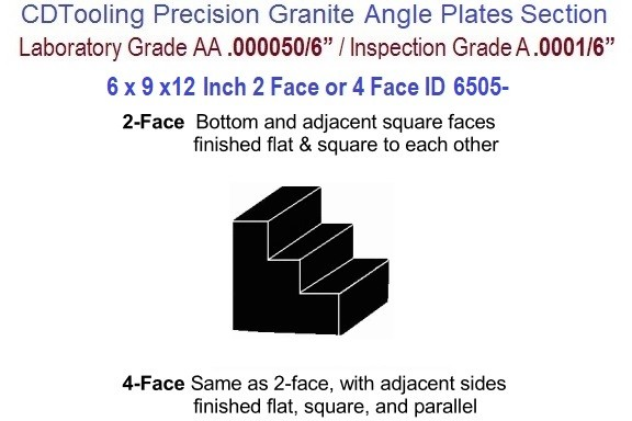 6 x 9 x 12 Inch AA Laboratory, A Inspection Grade, Angle Plate 2-Face or 4 Face ID 6505-