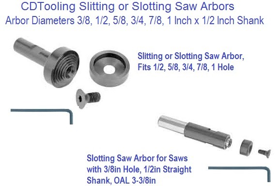 "1//2/"" Shank Diam,... Value Collection Slitting//Slotting Saw Arbor Straight Shank"