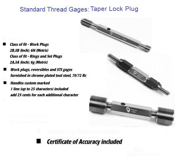 TaperLock Plug Gage - Standard Thread