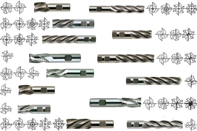 End Mill Roughing End Mill 3 4 5 6 8 Flute Cobalt Cutters Roughers