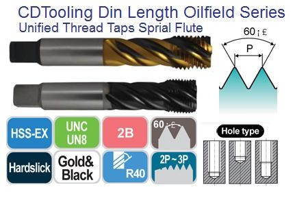 Spiral Flute Taps for Modified Bottoming Style for Stainless Steel up to 35HRc Oil Field ID 2064-