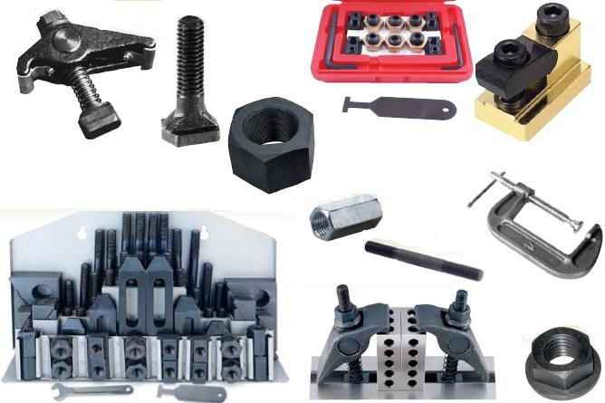 Clamping Kits, T Slot Nuts,T-Slot Bolts, Hex Nuts, Flange Nuts, Studs. Toggle Clamps ID 671-