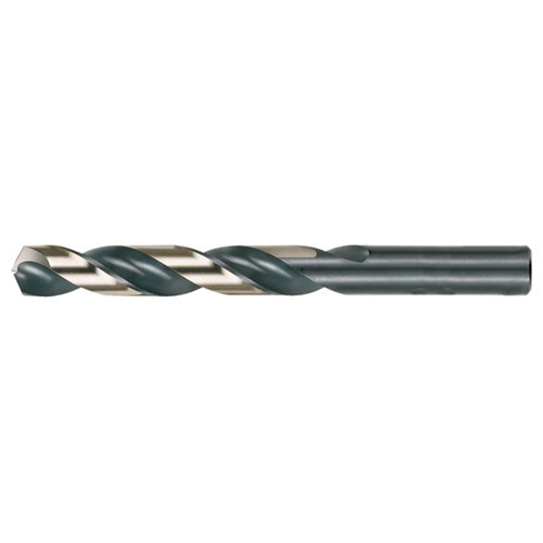 27/64 RHS / RHC HSS 135 Degree Split Point Heavy Duty Jobber Length Drill - Black & Gold ID # CF70C69065