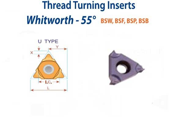 06 IR 18 W BMA W Witworth Full Profile Carbide Threading Inserts 5 PACKS - ID: 1043-06IR18WBMA