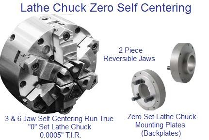 Lathe Chuck 3 and 6 Jaw Self Centering Lathe Chuck Zero Set  6-12