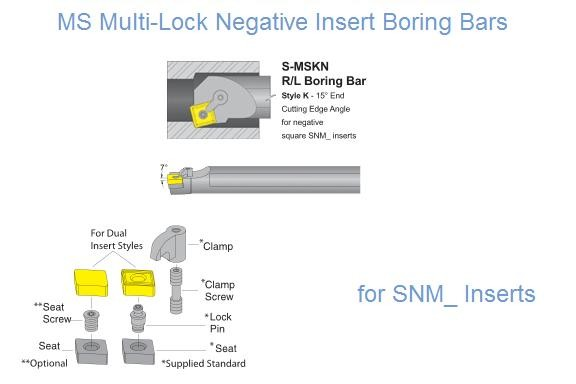 S-MSKN R/L for SNM_, Multi-Lock Negative Insert Boring Bars