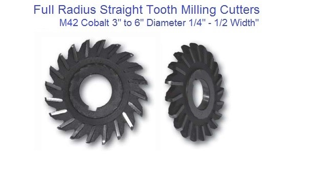 Milling Cutter Full Radius Straight Tooth 3