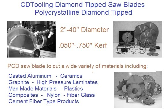 PCD Tipped Saw Blades
