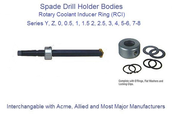Spade Drill Rotary Coolant Inducer Ring RCI 3/4, 1, 1-1/4, 1-3/4, 2-1/4 ID